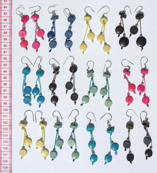 7 Pairs Earrings Color Tagua Fashion Jewelry Wholesale
