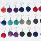 10 Pairs Round Color Tagua Earrings Jewelry Wholesale