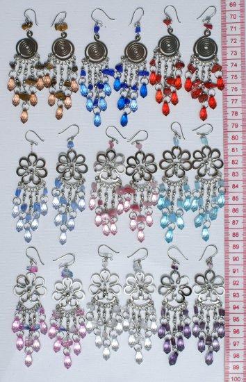 6 Pairs Alpaca Earrings Murano Cristal Peruvian Jewelry