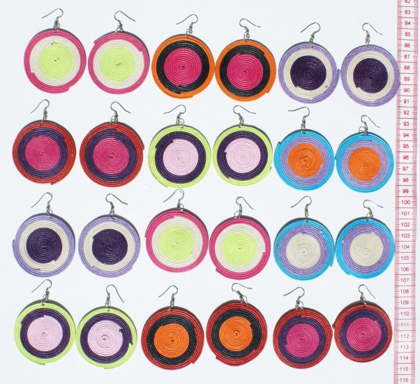 7 Pairs Round Drop Dangle Earrings Jewelry Wholesale