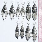 5 Pairs Ethnic Style Alpaca Earrings Peruvian Jewelry