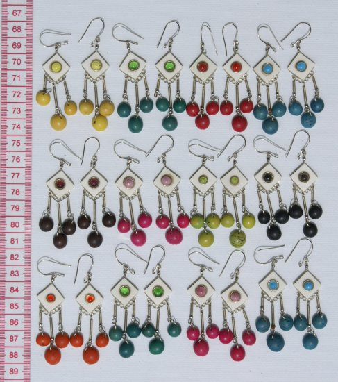 5 Pairs Horn Earrings Wholesale Costume Fashion Jewelry