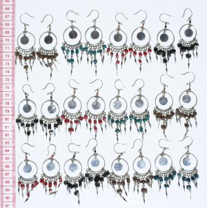 7 Pairs Pearl Earrings Artisan Handcrafted Jewelry Art