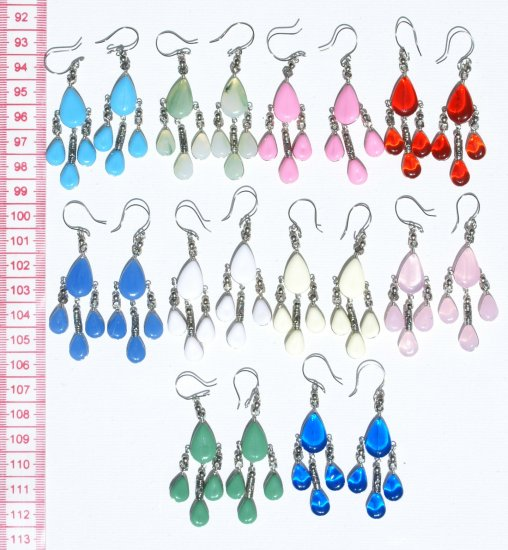 5 Pairs Glass Earrings New Fashion Jewelry Wholesalers