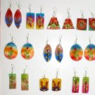 6 pairs color ceramic handmade earrings nice ornament