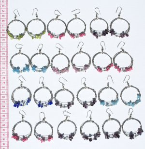 9 Pairs Rock Pearls Round Earrings Jewelry Wholesale