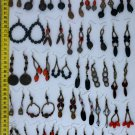 LOT 5 PAIRS HANDMADE EARRINGS, MADE OF TROPICAL SEEDS