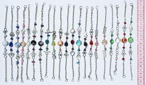 10 Murano Glass Bead Bracelets Fashion Peruvian Jewelry