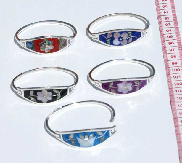 5 Mexican Charm Bracelets Flower Design Fashion Jewelry