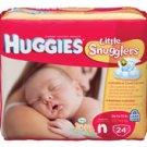 Diaper Huggies Ultra Trim Newborn 24/Pk, 12 PK/CA