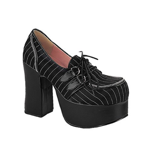 Charade 12 Pinstripe Loafer by Demonia