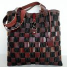 Brown tote, Brown Leather Tote, Market bag, Leather tote,Basket Leather bag, Messanger Leather