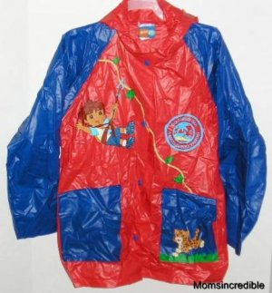 Go Diego Go Rain Slicker Nick Jr 4-5T