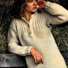 Snipped Knitted Smock Sweater Pattern