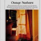 Orange Starburst Quilt Pattern w/full sized Pattern