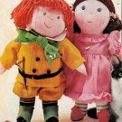 10 O'clock Scholar and Miss Muffet Snipped Doll Patterns