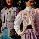4 Knit and Crocheted Ladies tops Snipped Patterns