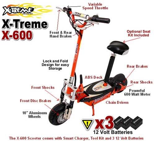 X-Treme Deluxe Electric X-600