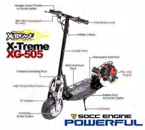 X-Treme XG-505 Gas scooter