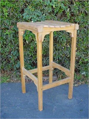 Backless Bar Chair Teak