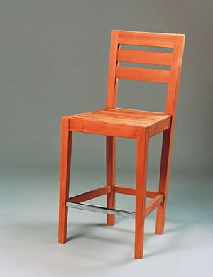 Bar Chair-Horizontal Slats Teak