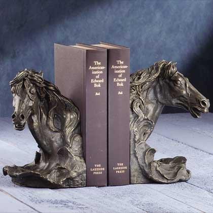 Horses Head Bookends