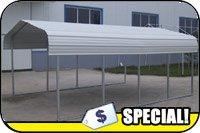 Steel Carport 7ft W