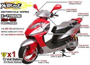 X-Treme EPA street Legal Gas Moped 150cc