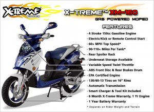 X-Treme Gas Moped Street Legal