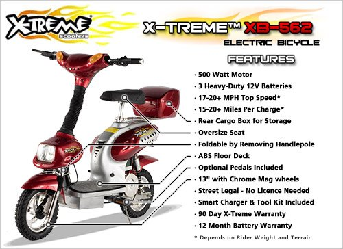 X-Treme XB-562 12 Amp Electric Bicycle