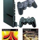 Slim Playstation 2 Value Bundle - 86 Games 2 Controllers