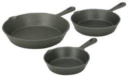 PC 3 Cast iron frying pans
