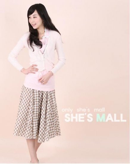 Gmarket Korean New Long Plaid skirt