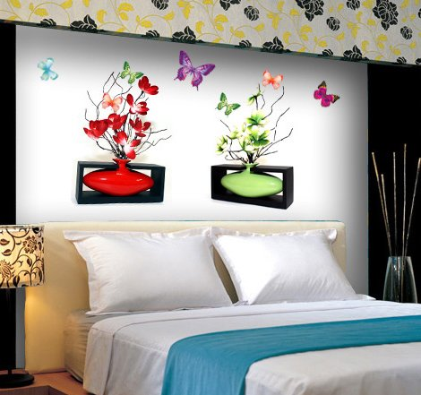 CP-016 Harmony Vase Wall Decor Art Adhesive Sticker - Perfect Christmas Gift!