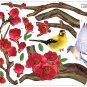 CP-034 Bird Flower Tree Wall Decor Art Adhesive Sticker - Free shipping