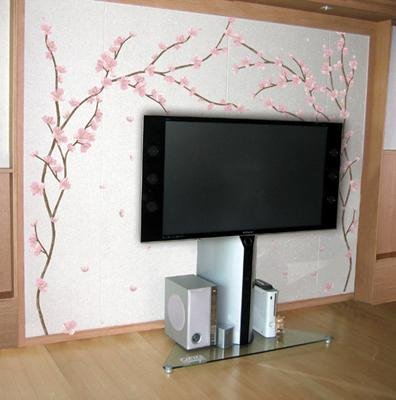 PS58045 Cherry Blossom Wall Decor Art Adhesive Sticker - Free shipping