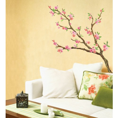 LWST-06 CHERRY BLOSSOM SELF-ADHESIVE WALL DECOR STICKER - Free shipping