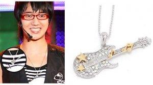 Korean Super Junior Suju Yesung Electric GUITAR Necklace