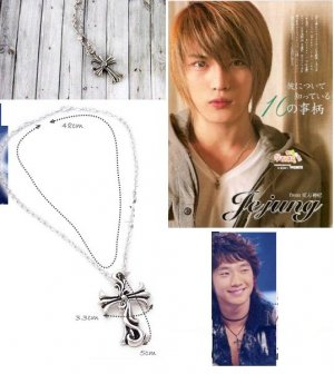Korean Bi (Rain) & JaeJoong (DBSK/TVXQ) Classic Cross Necklace