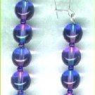 "Bicoloured Glass Drop Beaded Earrings ""Sapphire & Amethyst"" - PreciousThings.ecrater.com"