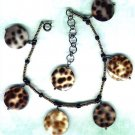 "Adjustable Handmade Cowrie Shell and Glass Beaded Anklet ""Well-Spotted"" - PreciousThings.ecrater.com"