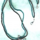 Green & Bronze Paua Shell Pendant Beaded Necklace - PreciousThings.ecrater.com