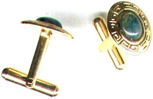 Men's Moss Agate Gemstone Cufflinks - PreciousThings.ecrater.com