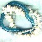 "Amazonite Gemstone Elasticated Beaded Bracelet set ""Sea Foam"" - PreciousThings.ecrater.com"