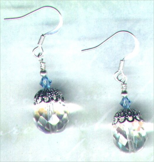 Crystal Filligree Handmade Beaded Earrings - PreciousThings.ecrater.com