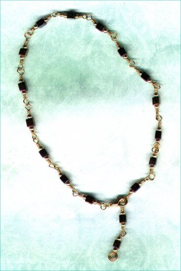 Adjustable Gold Iris Cube Beaded Chain Anklet - PreciousThings.ecrater.com