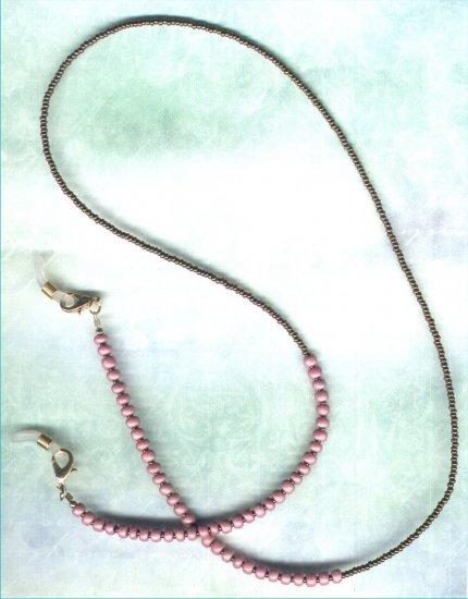 "Handmade Beaded Eyeglass Leash ""Bronzed Foxglove"" - PreciousThings.ecrater.com"