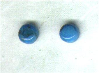 Turquoise Gemstone & Sterling Silver 6mm Stud Earrings - PreciousThings.ecrater.com