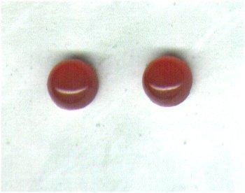 Carnelian Gemstone & Sterling Silver 6mm Stud Earrings - PreciousThings.ecrater.com