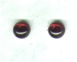 Temporarily out of stock - Garnet Gemstone & Sterling Silver 6mm Stud Earrings